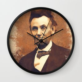 Abraham Lincoln, President, United States of America Wall Clock