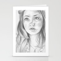amy pond Stationery Cards featuring amy pond  by Jill Schell