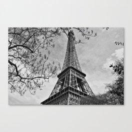 Half a Eiffel Tower Canvas Print
