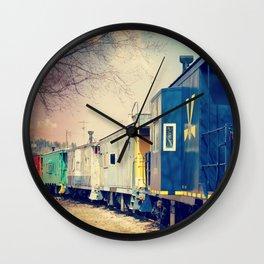 Colorful Train Wall Clock
