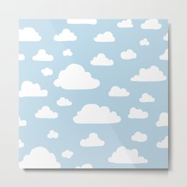 Cloud - Baby Blue Metal Print