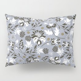 Victorian floral | slate gray Pillow Sham