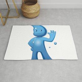 Water boy Cartoon Rug