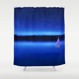 The Star Gazer - Nautical Milky Way Twilight Shower Curtain