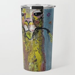 Llama with pipe Travel Mug