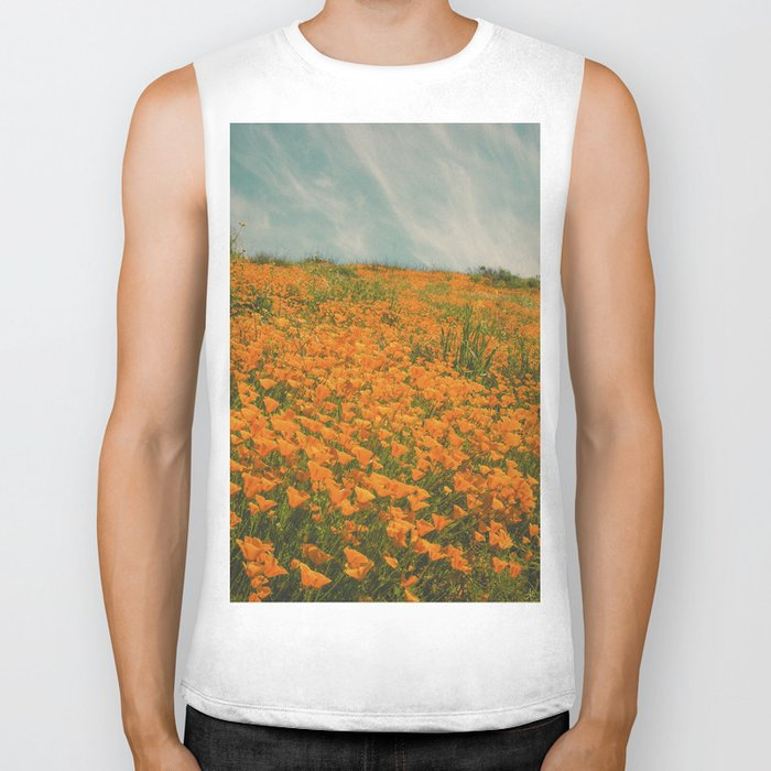 California Poppies 016 Biker Tank