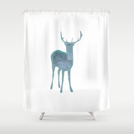 Holiday deer 1- Holidaze Shower Curtain