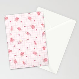 Strawberry Milk Stationery Cards