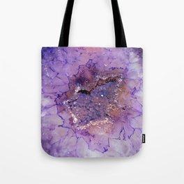 Amethyst Geode Tote Bag