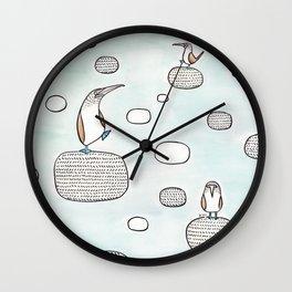 blue foot boody Wall Clock