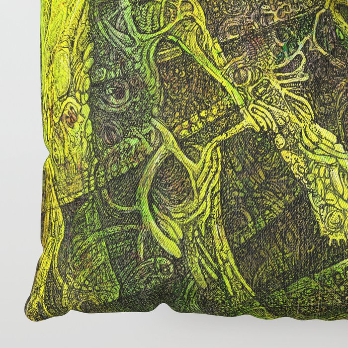Mayan Awakening Floor Pillow