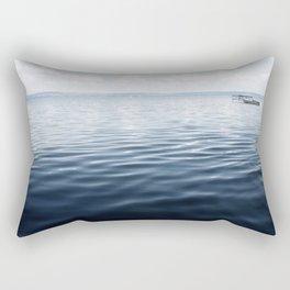 calm blue water Rectangular Pillow