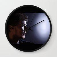 ed sheeran Wall Clocks featuring Sherlock[ed] by Mel Hampson