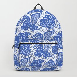 Pegasus Pattern Blue Backpack