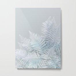 Frozen Fern Metal Print