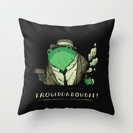 Frogeddaboudit! Throw Pillow