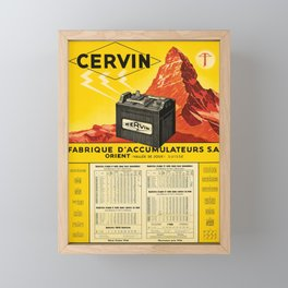 cartellone cervin fabrique daccumulateurs sa Framed Mini Art Print