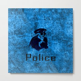 police skull Metal Print