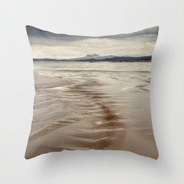 Beach and Mountains Throw Pillow