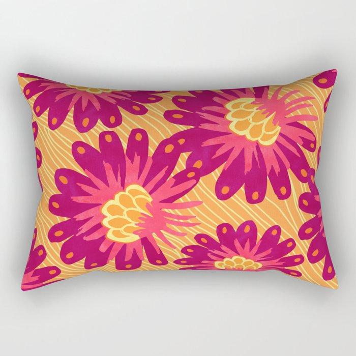 Fierce Floral Rectangular Pillow