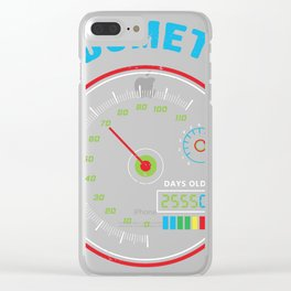 Funny 70th birthday Oldometer Birthday graphic Born in 1949 Clear iPhone Case