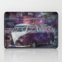 volkswagon iPad Cases featuring Night time Camper by yairi