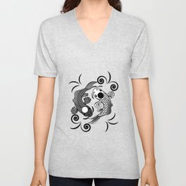 Koi Fish Karma Yin Yang Fate Spiritual Gift Unisex V-Neck