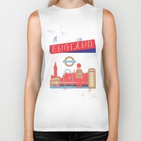 london Biker Tanks featuring LONDON by famenxt