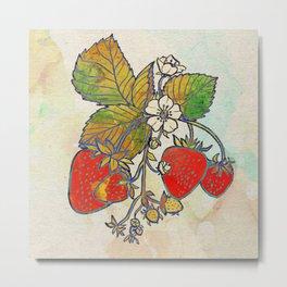Spread Like Strawberries Metal Print