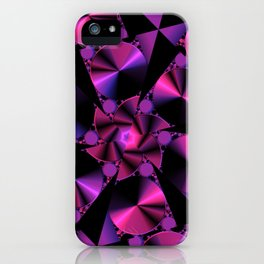 Abstract 344 a berry and black kaleidoscope iPhone Case