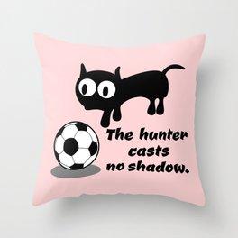 Cat Football Throw Pillow
