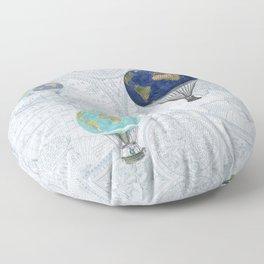 World Flight Floor Pillow