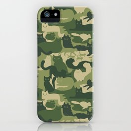 Camouflage Cats iPhone Case