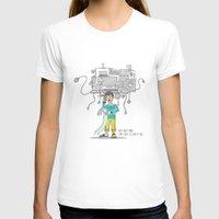 bill T-shirts featuring Electricity Bill by Jyoti Khetan