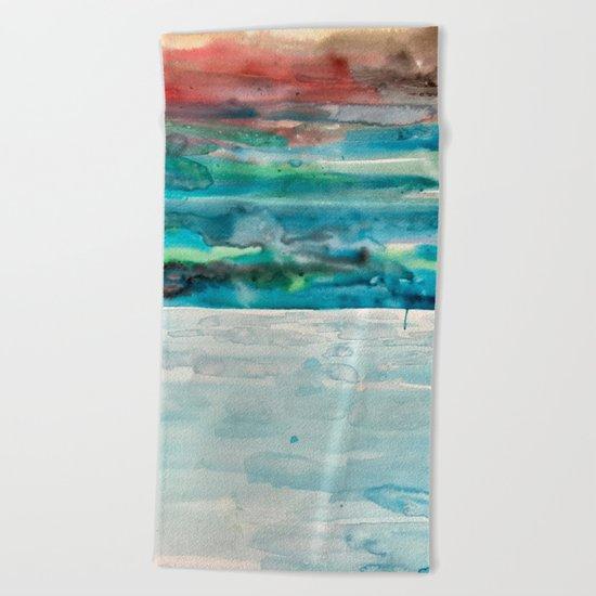 Miami Beach Watercolor #5 Beach Towel
