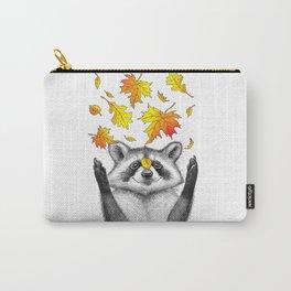 autumn raccoon Carry-All Pouch