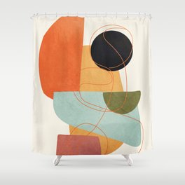 Abstract Shapes 16 Shower Curtain