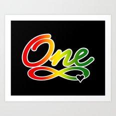 One Love Art Print