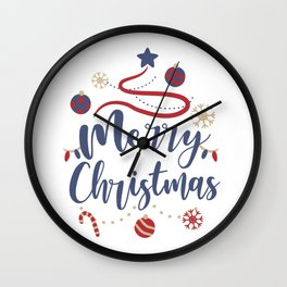 Merry Christmas, Most beautiful time of the year Wall Clock