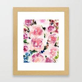 Pastel Pinks Framed Art Print