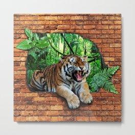 Tiger - Window To The Jungle Metal Print