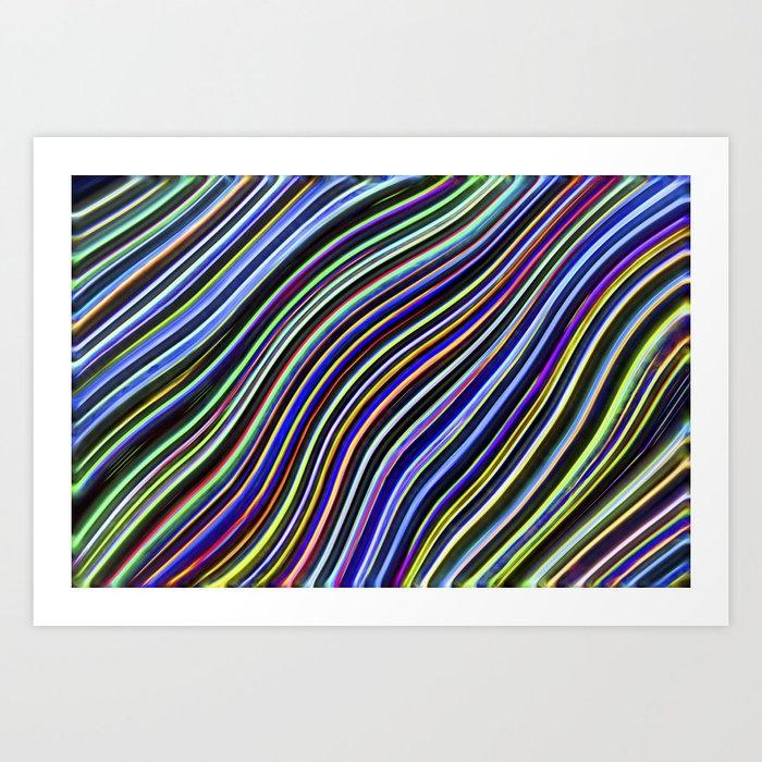 Wild Wavy Lines 08 Art Print