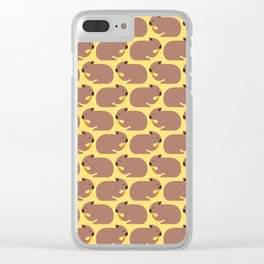 Wombat Loves Carrot I Clear iPhone Case