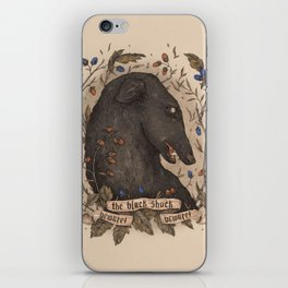 Beware, the Black Shuck iPhone Skin
