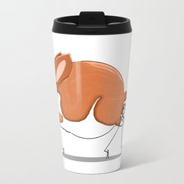 Basset on Parade Travel Mug