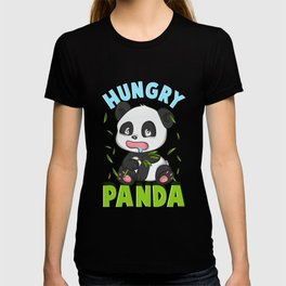 Cute Hungry Panda Always Hungry Funny Baby Panda T-shirt