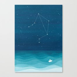 Libra zodiac constellation Canvas Print