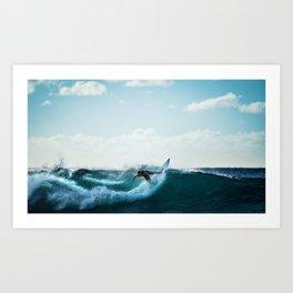 Wave Series Photograph No. 4 - Big Swells at Mavericks Beach Art Print