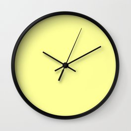 From The Crayon Box – Canary Yellow - Pastel Yellow Solid Color Wall Clock