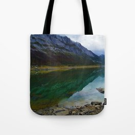 Reflections in Medicine Lake in Jasper National Park, Canada Tote Bag